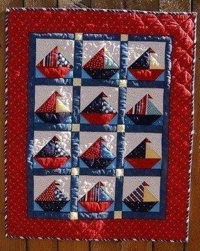 Edredón para bebés Salboat de pipers quilts