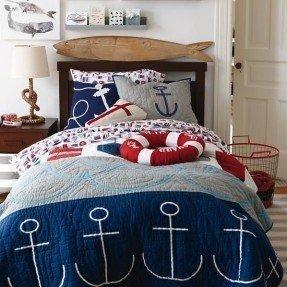 Ropa de cama de colchas náuticas 5